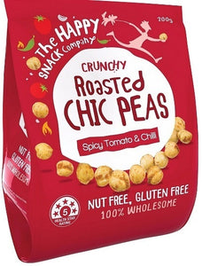 The Happy Snack Company Crunchy Roasted Chic Peas Spicy Tomato & Chilli 200g