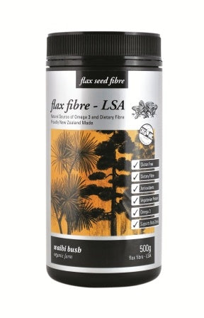 Waihi Bush Flax Fibre Linseed Sunflower and Almond 500g