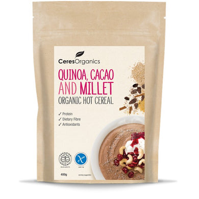 Ceres Organic Hot Cereal - Quinoa, Cacao & Millet 400g