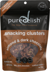 Pure Delish Snacking Clusters - Almond & Dark Chocolate 150g