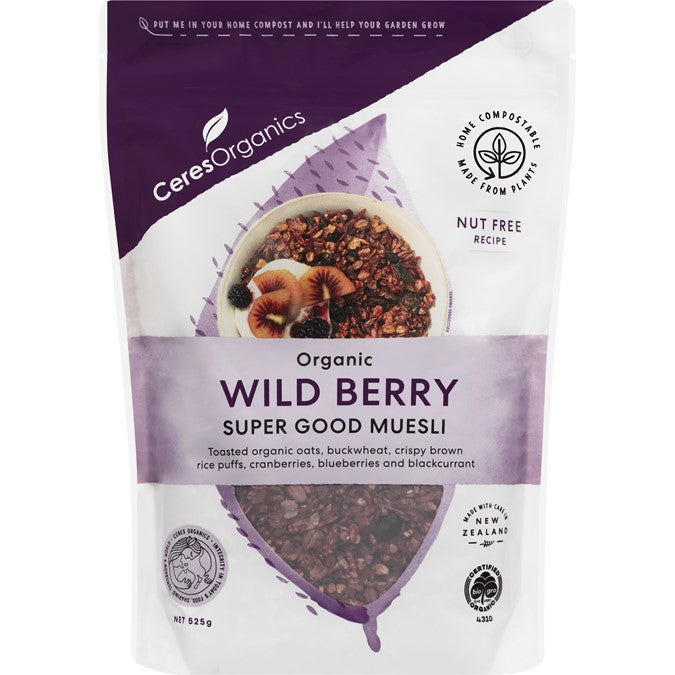 Ceres Organic Wild Berry Super Good Muesli 525g