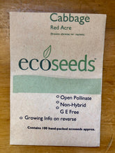 Load image into Gallery viewer, Eco Seeds Cabbage - Red Acre