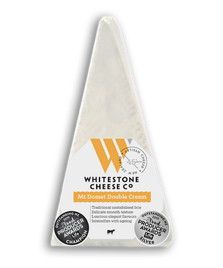 Whitestone Cheese Mt Domet Double Cream Brie 125g