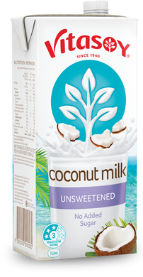Vitasoy Coconut Milk- Unsweetened 1L