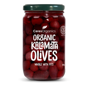 Ceres Organic Kalamata Olives, Whole with Pits 320g