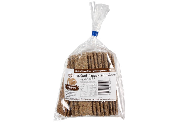 Breadman Cracked Pepper Snackers 200g