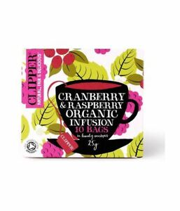 Clipper Cranberry & Raspberry Infusion 10 Bags