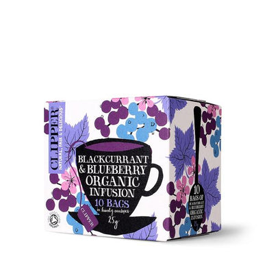 Clipper Blackcurrant & Blueberry Infusion Tea