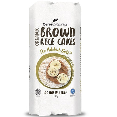 Ceres Organics Brown Rice Cakes Unsalted 110g