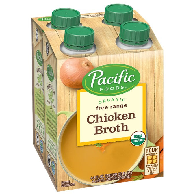 Pacific Organic Chicken Broth pkt of 4 x 250ml