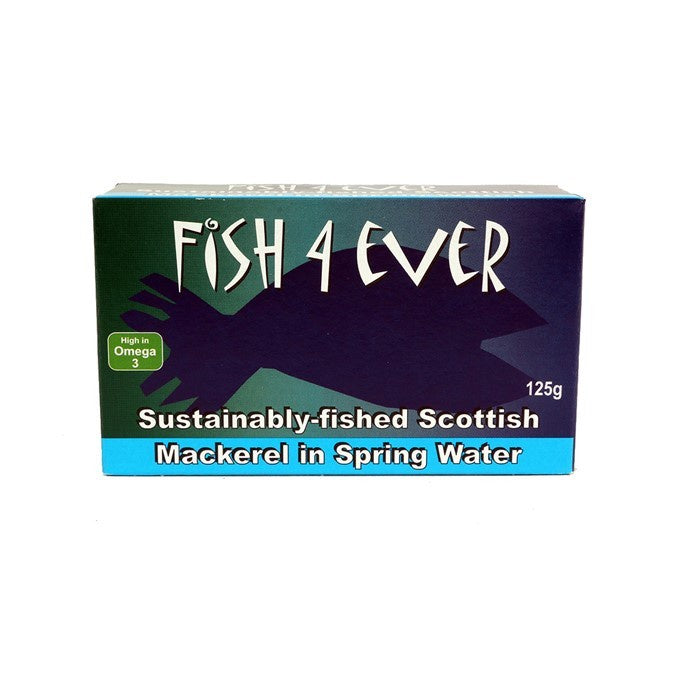 Fish 4 Ever Scottish Mackeral 125g