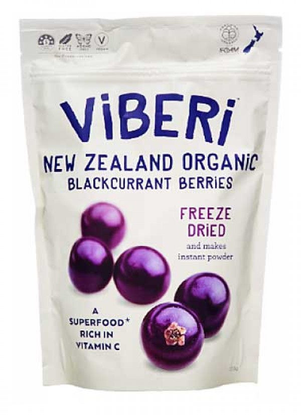 Viberi Blackcurrants Freeze Dried 120g