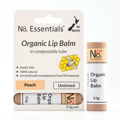 No 8 Essentials Organic Lip Balm 9.5g - Peach