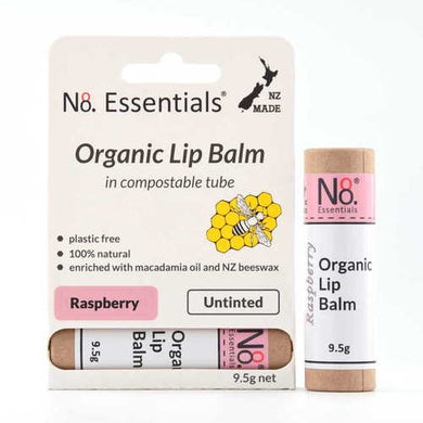No 8 Essentials Organic Lip Balm 9.5g - Raspberry