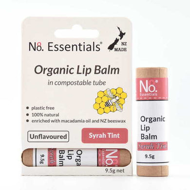 No.8 Organic Lip Balm 9.5g- Unscented With A Syrah Tint