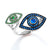 Double Eye Ring - Blue Sapphires