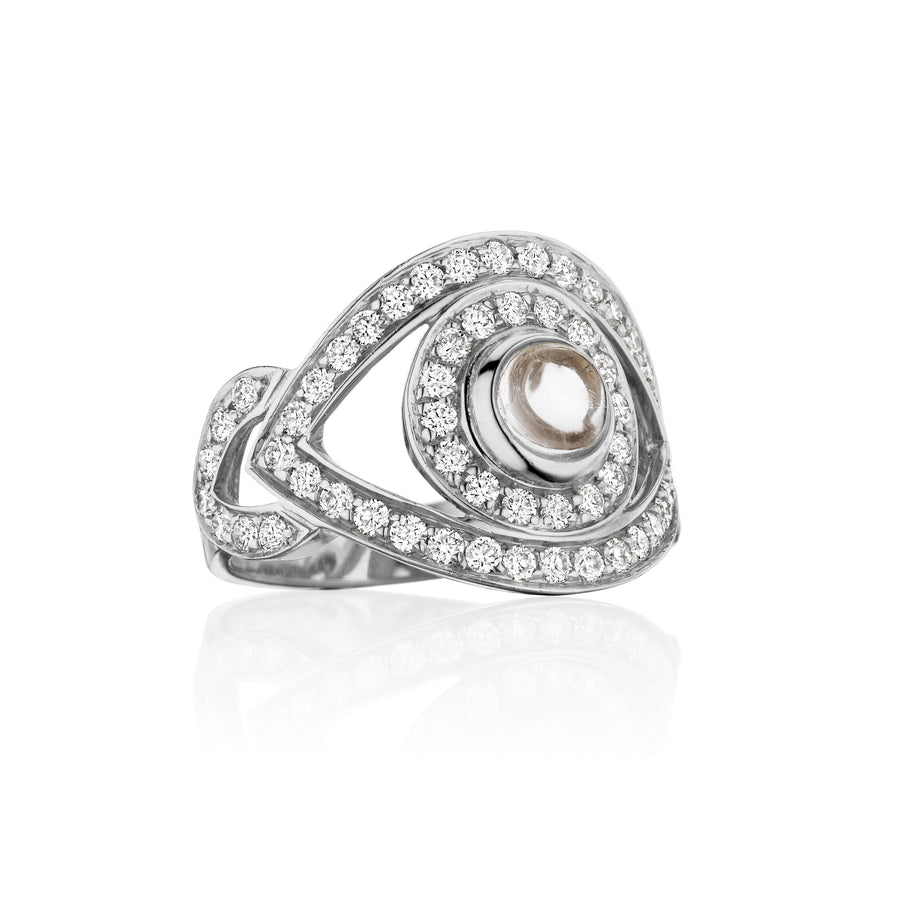 Big Eye Ring - White Diamonds