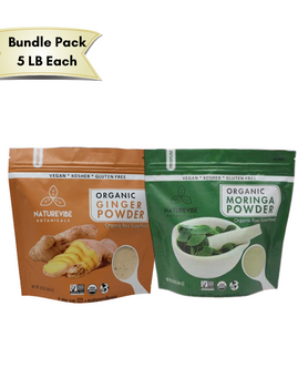 Ginger & Moringa powder Bundle - 5 lb Each