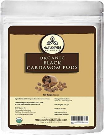 Organic Black Cardamom Pods Whole