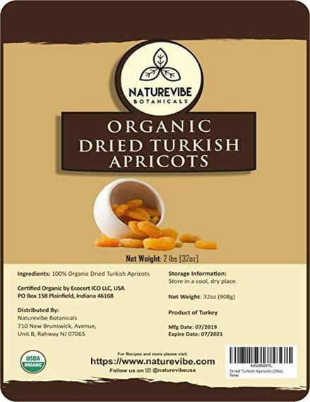 Organic Dried Turkish Apricots