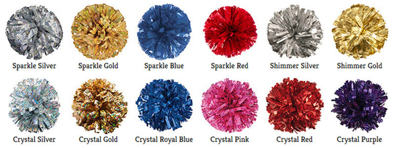 Iridescent/Holographic Mixed Material Cheer Poms