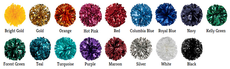 Metallic/Plastic Mixed Material Cheer Poms