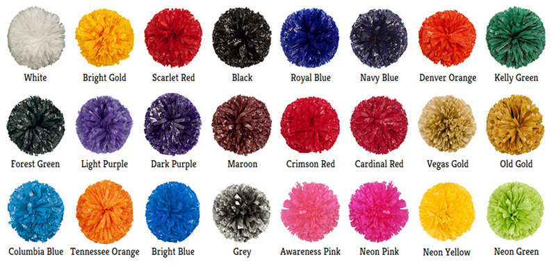 Iridescent/Wet-Look Mixed Material Cheer Poms
