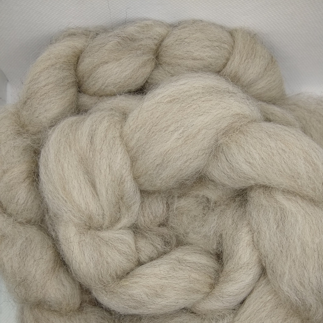 Shetland combed tops - Undyed - Light Grey