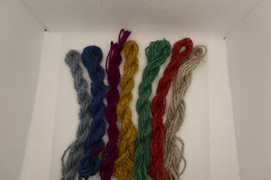 Shetland combed tops - Hand Dyed