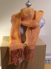 Load image into Gallery viewer, Spaced Twill Scarf - mango