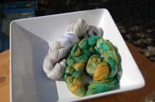 Load image into Gallery viewer, Pre-wound Warp & Weft - Greens & Silver