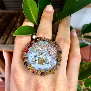 Ring with the map of Italy | Traveler