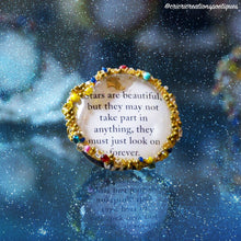 Load image into Gallery viewer, Handmade Golden rings with Poetic Definitions | Open Book