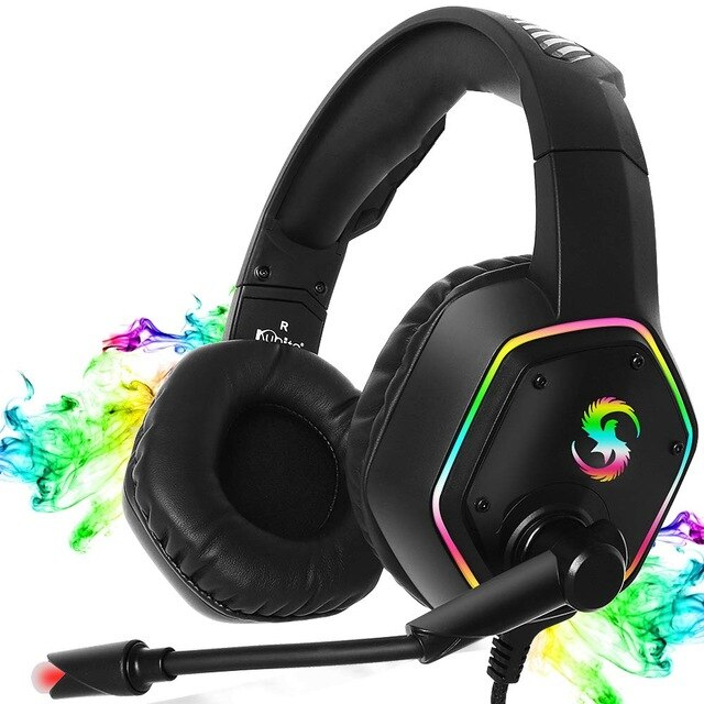 K-15 Gaming Headphones with Light Microphone