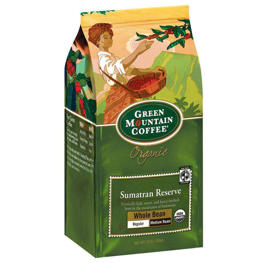 Green Mountain Coffee Roasters Sumatran Reserve Organic Whole Bean Coffee 10 oz. - Shop Salvos