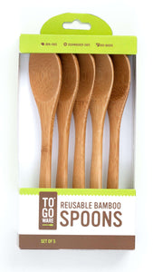 To-Go Ware Reusable Bamboo Spoons (5 Count) - Shop Salvos