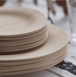 "Bamboo 9"" Disposable Plates (8 Pack)"