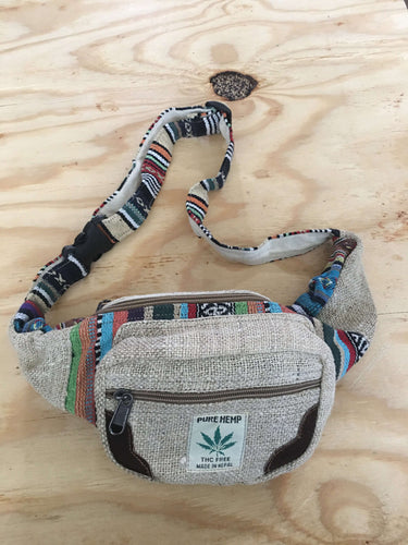 Handmade Hemp Money Fannypack