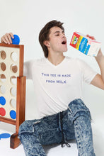 "Load image into Gallery viewer, ""This Shirt is Made From Milk"" Milk Waste Tee - Shop Salvos"