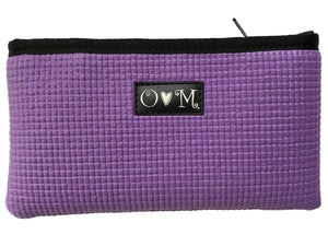 Upcycled Yoga Mat Lavender Clutch Purse