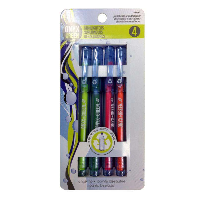 Recycled PET Fine Tip Highlighters – 4pk