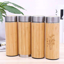Load image into Gallery viewer, Stainless Steel Bamboo Thermos - Shop Salvos