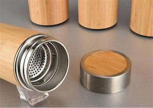 Stainless Steel Bamboo Thermos - Shop Salvos