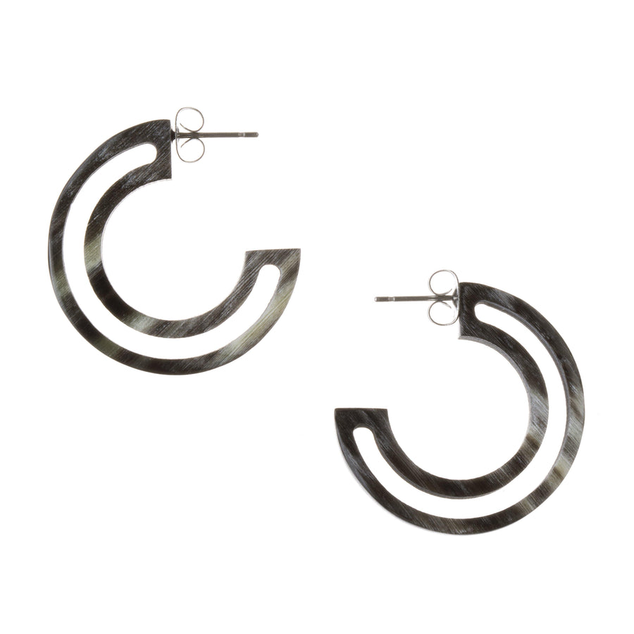 Stella Up-cylced Horn Hoops - Faire Collection