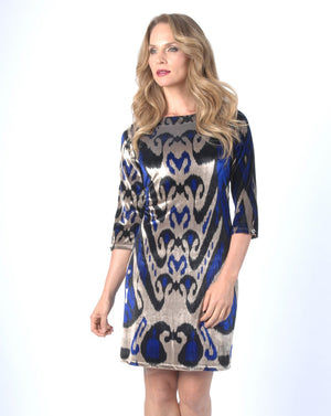 ROYAL SHIMMER Shift Dress