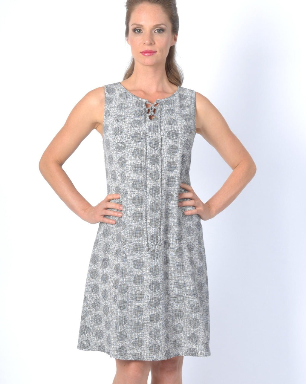 PEBBLE CREPE Print Aline Dress