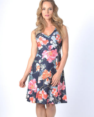 FLORA fit and flare dress