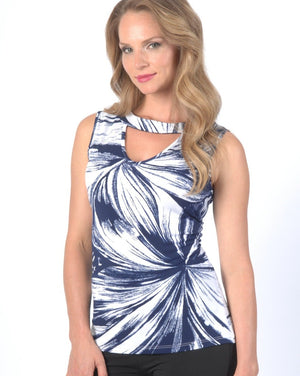 BLUE SWEEP sleeveless top - Final Sale