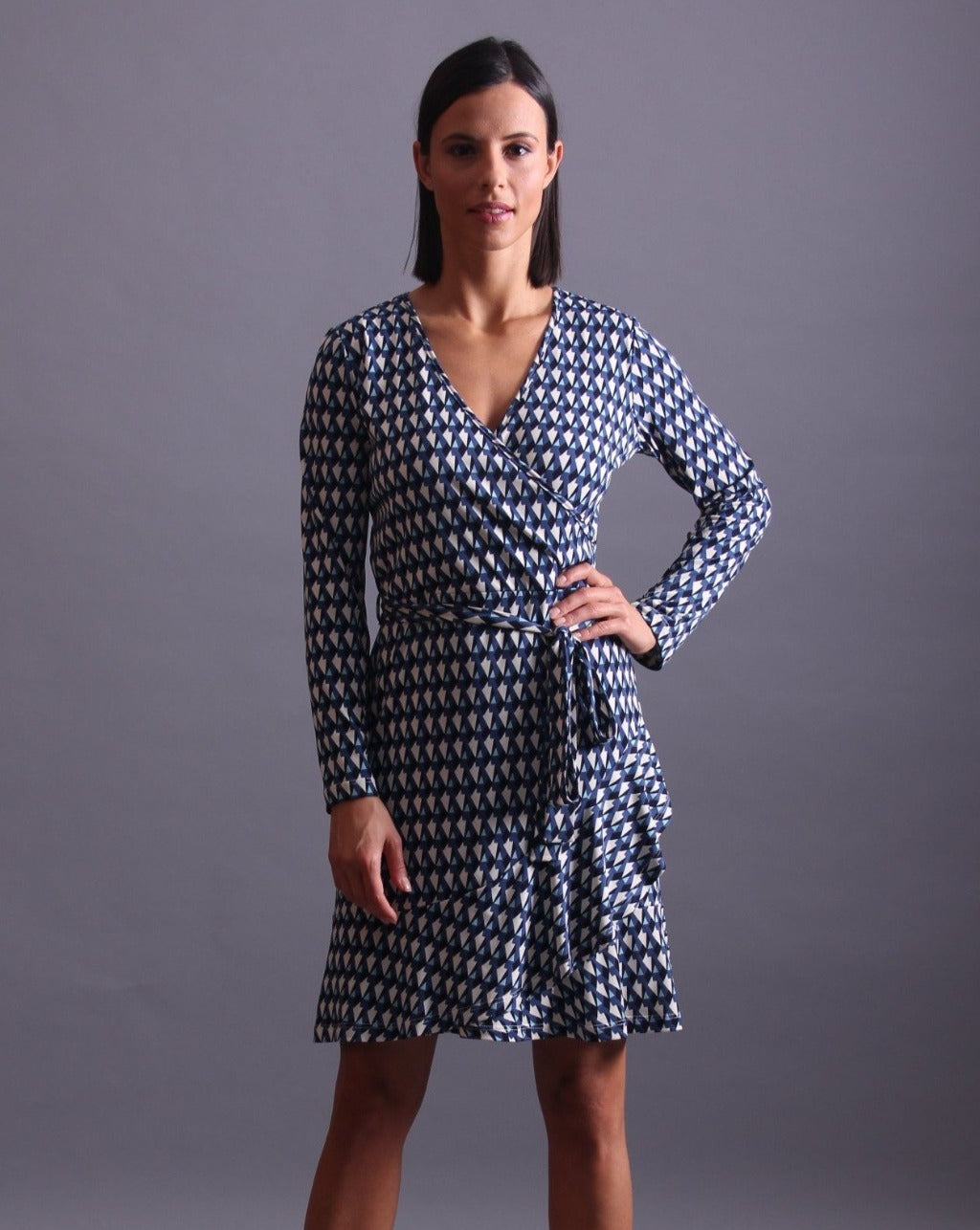 JESSICA Fauxwrap Dress  AVAIL SEPT 25