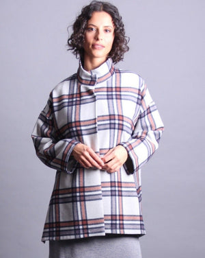 PEGGY loose plaid jacket